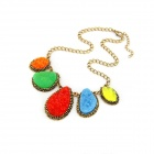 Fashionable Classical Resplendent Women's Necklace - Multicolored