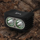 SingFire SF-817 1800lm 2  x XML U2 4-Mode White LED Super Mini Bike Light - Black (4 x 18650)