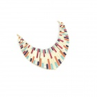 Fashionable Punk Style Metallic Sector Fake Collar Necklace - Multicolored