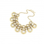 Fashionable Vintage Buble Necklace - Antique Brass