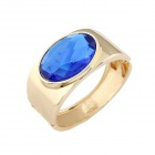 Fashionable Zinc Alloy Exaggerated Big Gem Temperament Bracelet - Golden + Blue