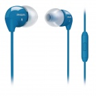 Philips SHE3515BL/00 In-Ear Headset with Mic for Mobile Iphone Samsung (Blue)