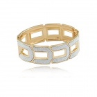 Metallic Rising Higher Step By Step Bangle - Silver + Golden