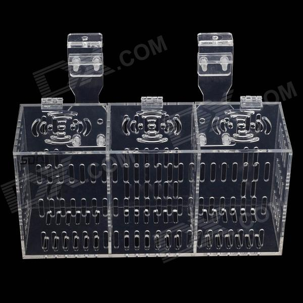 H-3 Non-toxic Security Acrylic Fish Hatching / Isolating Tank - Transparent