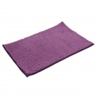 Anti-slip Water Absorption Soft Plush Bedroom Carpet Doormat - Deep Purple (Size-M)