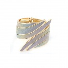 Punk Style Metallic Exaggerated Angle's Wing Bangle - Multicolored