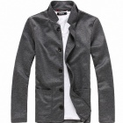 Männer Casual-Blazer-Mantel - Dark Gray (L)