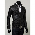 Slim Fit Collar Jacket - Black (XL)
