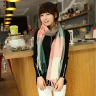 Ms. Plaid Cashmere Scarf - Pink + Green