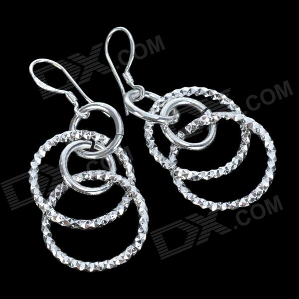Silvering Ring-in-Ring Earring - Silver