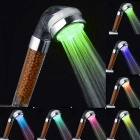 Contemporary Chrome Colorful Water Purification LED Showerhead - Silver