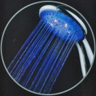 8008-A24 7-Color Changing 5-LED Rainfall Hand Shower - Silver