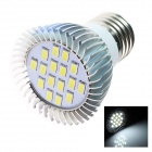 GCD Y9 E27 6W 360lm 5500K 16 x SMD 5630 LED White Energy Saving Light Bulb - White (110~120V)