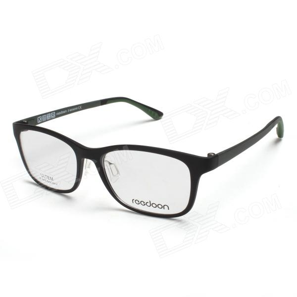 Reedoon UT2121 Ultra-Lightweight Tungsten Titanium Myopia Frame Eyeglasses - Black + Dark Green aqua pe ultra troll dark green 150m 0 35mm 32 10kg