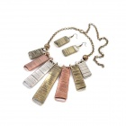 Europe and United States Character Style Zinc Alloy Women's Necklace + Earrings Set - Multicolored