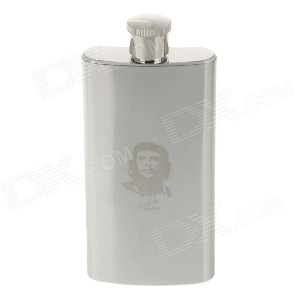 5155 Outdoor Stainless Steel + PU Leather Hip Flask - Silver (3 Ounce)