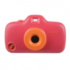 3D Camera Style Protective Plastic Back Case w/ 8 Filters for Iphone 4 / 4S / 5 - Orange + Deep Pink