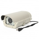 "HS-908TC-6W 700TVL 8mm 1/3"" CCD Waterproof Surveillance Security Camera w/ 6-IR LED - White"