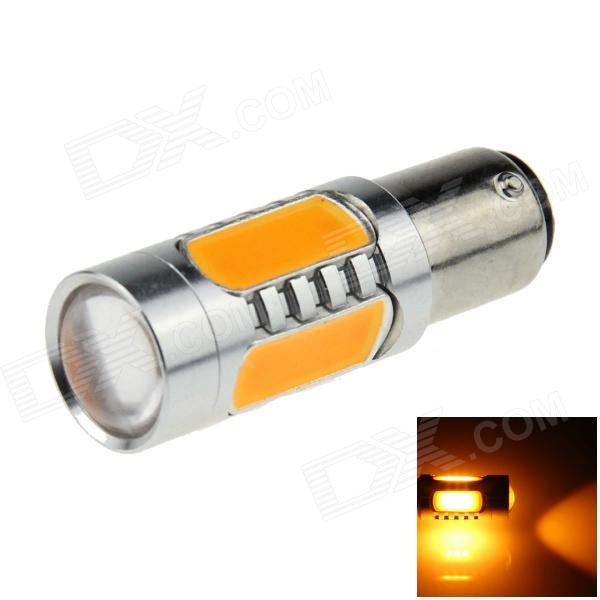 1157 / BAY15D 7.5W 500lm 5-LED Orange Car Brake / Backup / Steering / Tail Light Lamp - (12~24V)