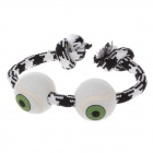 Cute Little Ball Style Nylon Pet Dog Toy - White + Black + Green