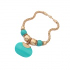 Fashion Bohemia Ms Necklace Necklace - Blue + Gold