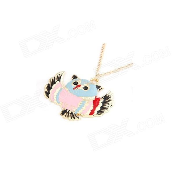 Fashionable Colorful Lovely Owl Pattern Sweater Chain - Golden + Pink