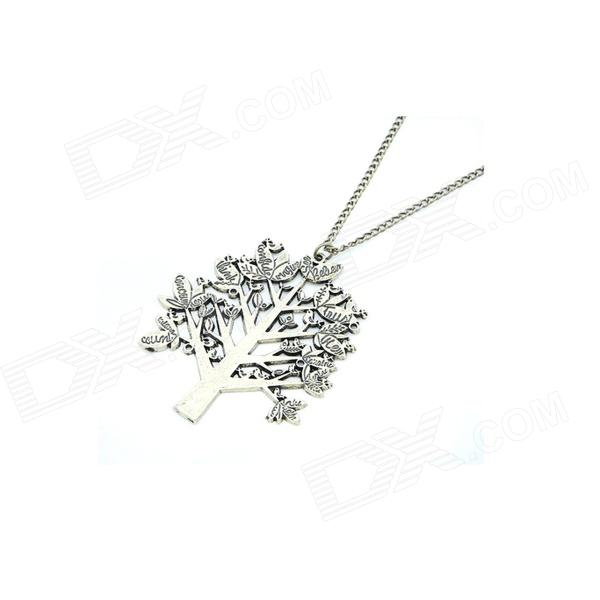 Korean Fashionable Vintage Pine Tree Necklace - Golden