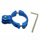 BZ62 Universal Aluminum Bicycle Mount Clip for GoPro HD Hero 2 / 3 / 3+ - Blue