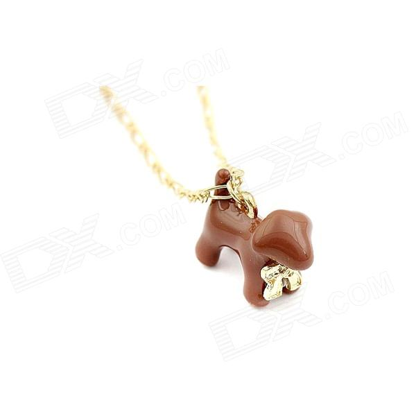 Fashionable Lovely Dog Necklace - Brown