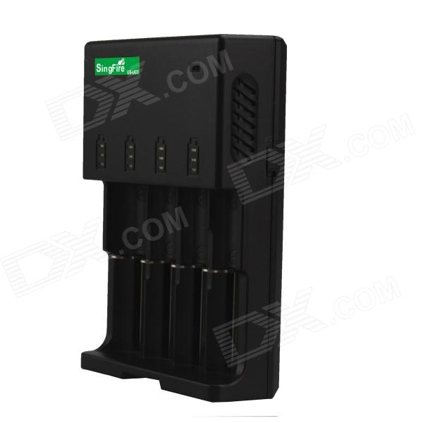 все цены на  SingFire US-UC1 4-Slot Intelligent Universal Battery Charger w/ 12V Car Charger - Black (US Plug)  онлайн