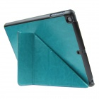 ENKAY ENK-3146 Protective PU Leather Smart Case w / Stand for Ipad AIR / Ipad 5 - Blue Green