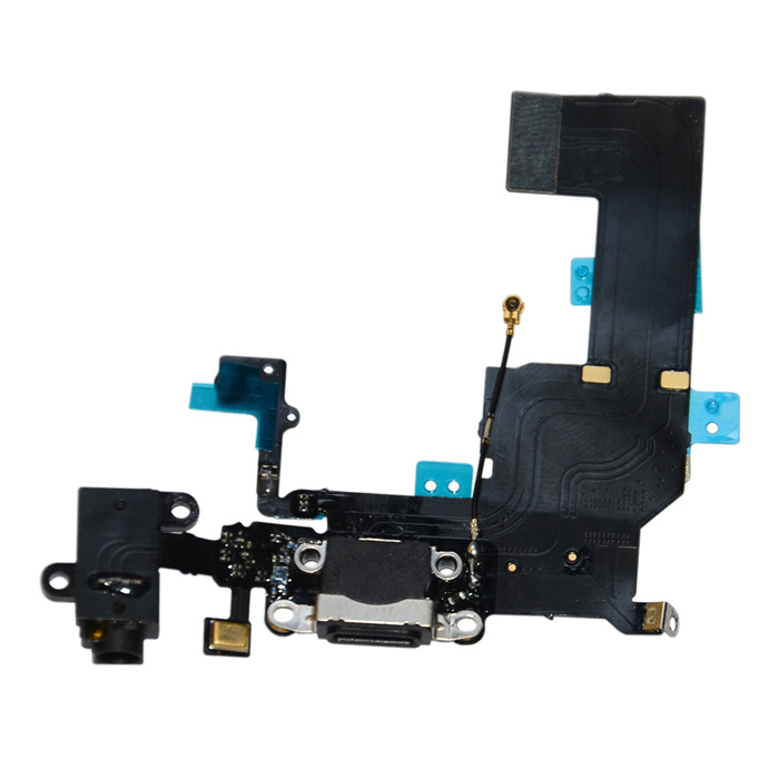 Replacement Charging Dock + Audio Port Connector Flex Cable for  Iphone 5C htc flyer dock connector charging port flex cable green golden