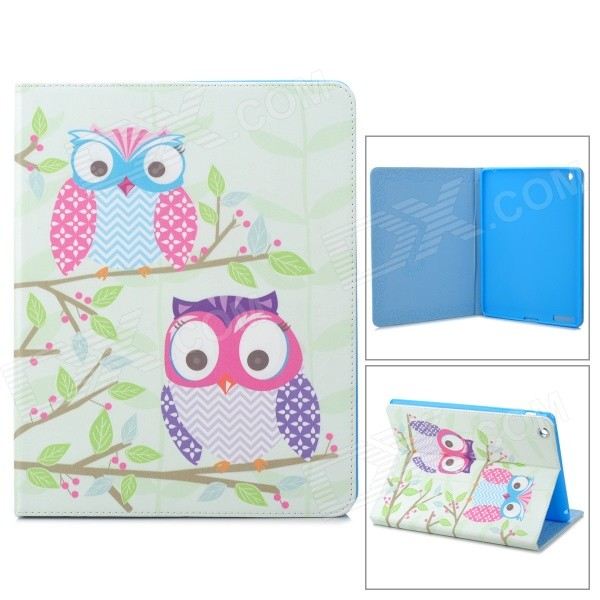 все цены на Stylish Owl Pattern Protective PU Leather Case Cover Stand for Ipad 2 / 3 / 4 - Multicolor онлайн