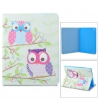 Stylish Owl Pattern Protective PU Leather Case Cover Stand for Ipad 2 / 3 / 4 - Multicolor
