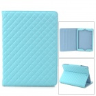 Stylish Diamond Style Protective PU Case w/ Stand for Ipad AIR - Blue