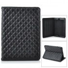 Stylish Protective PU Case w/ Stand for Ipad AIR - Black