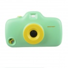 3D Camera Style Protective Plastic Back Case w/ 8 Filters for Iphone 4 / 4S / 5 - Green + Yellow