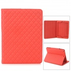 Stylish Protective PU Case w/ Stand for Ipad AIR - Red