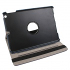 360' Rotation Protective Carbon Fiber Cloth + PC Case Cover Stand for Ipad 5/ Ipad AIR - Deep Blue