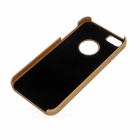 Fashionable Protective Plastic Back Case for Iphone 5S / 5 - Golden