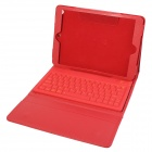 Wireless Bluetooth V3.0 Silicone Keyboard Protective PU Leather Case for Ipad AIR - Red