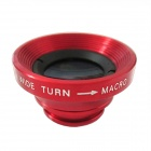 Clip-on 0.67X Wide Angle + Macro Lens for Iphone / Samsung + More - Black + Red + White