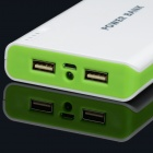 BP 15600mAh High-Quality Portable  Mobile Power Bank for Iphone 5S / Samsung / HTC -White + Green