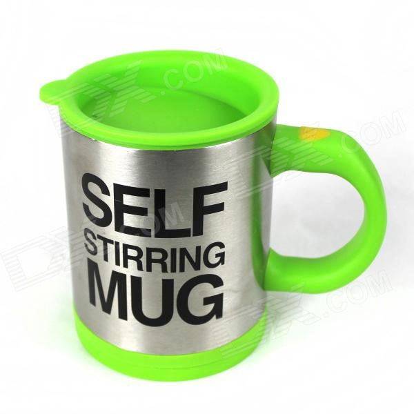 Creative Auto Stirring Mug - Silver + Green (2 x AAA / 350mL) термокружка emsa travel mug 360 мл 513351