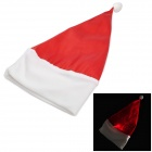 Fiber Optical Fabric LED Christmas Hat - White + Red (2 x AAA)