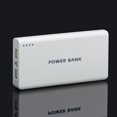 BP 15600mAh High-Quality Portable  Mobile Power Bank for Iphone 5S / Samsung / HTC - White + Grey