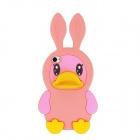 Cute Rabbit Duck Style Protective Silicone Back Case for Iphone 4 / 4S - Pink