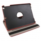 360' Rotation Protective Carbon Fiber Cloth + PC Case Cover Stand for Ipad 5/ Ipad AIR - Red