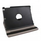 "360"" Rotation Protective Carbon Fiber PC Case Stand for IPAD 5 - Grey"