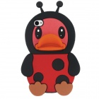 Cute Duck Mouth Style Protective Silicone Back Case for Iphone 4 / 4S - Red + Black